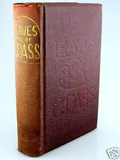 LEAVES OF GRASS Walt Whitman 1860 CONTROVERSIAL 3rd Ed Pirate BANNED BOOK vtg