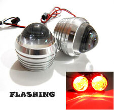 Autozot 2 X 3 Watts Red Flashing Strobe Warning LED Brake Light for Cars & Bikes