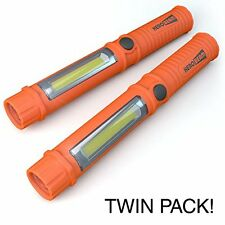 2 x Car Emergency Light - Super Bright LED Torch / Worklight with Magnet and Bel