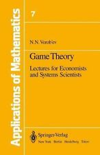 Game Theory: Lectures for Economists and Systems Scientists (Applicati-ExLibrary