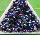 Jelly Black AB Crystal Multiple faceted resin FlatBack Rhinestones clothes bag