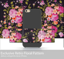 Slim iPhone 6 Plus case With Vintage Flower 3D Pattern Non-slip Rubberized Cover