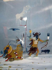 """Native American """"His Death Song"""" Lithograph by RANCE HOOD Signed & Numbered"""