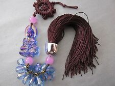 Feng Shui Good Fortune Knot w/ Chinese Crystal Tassel Hanging Ornament