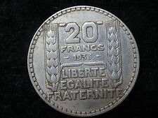 1933 French 20 Francs Silver Coin