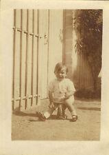 PHOTO ANCIENNE - VINTAGE SNAPSHOT - ENFANT JOUET ÉLÉPHANT VÉLO DRÔLE - CHILD FUN