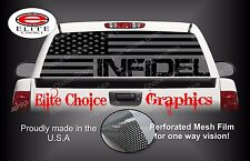 Infidel Military America Flag 2 Rear Window Graphic Decal Sticker Truck Car SUV