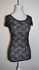 White House Black Market Lace Layering Top Shirt XS
