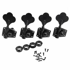 4R Electric Bass Tuners Machine Heads Tuning Pegs Keys Set Black