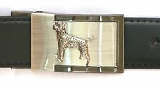 Border Terrier Belt Buckle and Leather Belt in Gift Tin Ideal Hunting Present