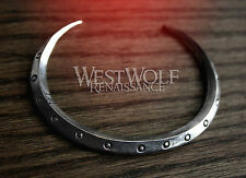 Viking Bangle Bracelet - Shield Rim Cuff -- Norse/Medieval/Silver/Jewelry/Torc