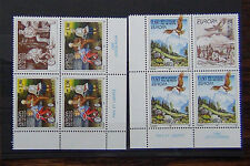 Yugoslavia 1995 Europa Peace and Freedom set in blocks x 4 3sets + Label MNH