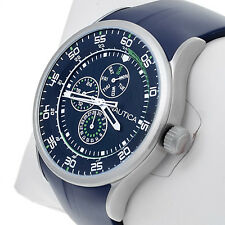 Nautica N14665G Navy Mens Watch Round Tachymeter Dial Stainless Steel Bezel New