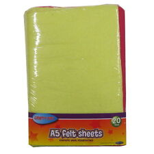 A5 Felt Coloured Sheets - Pack of 20 – 10 Assorted Colours - by Crafty Bitz