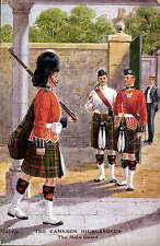 Military Art by Edgar Holloway. Cameron Highlanders # D 96 by Gale & Polden.