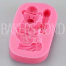 Baseball Bear Sports Teddy Silicone Mould Fondant Icing Cake Cupcake Topper