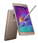 Unlocked Gold Samsung Galaxy Note 4 4G LTE Android GSM GPS Smartphone 32GB AGM