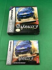 V-RALLY 3 --- GAMEBOY ADVANCED GBA  (BOX & MANUAL ONLY)