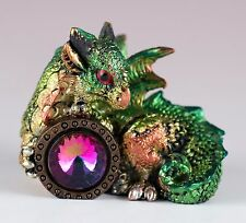 "Green Mini Dragon With Jewel Gem 2"" Detailed Resin New!"