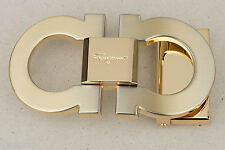 Salvatore Ferragamo Belt buckle Belts for Men Classic designer in Gold color NEW
