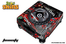 Skin Decal Sticker Wrap for Pioneer CDJ 1000 Turntable DJ Mixer Pro Audio TOXIC