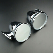 Universal 4 Inch Sports Car GT Chrome Copper Bullet Mirror Pair