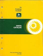 JOHN DEERE 70 FOLDING TOOLBAR PARTS CATALOG