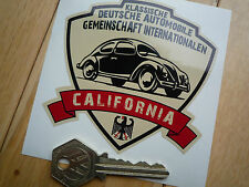 GERMAN Classic Automobile Association STICKER Deutsche Beetle VW California Car