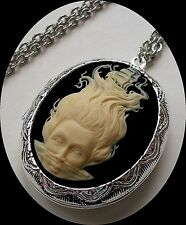 LADY OF THE SEA MERMAID & PIRATE SHIP Cameo LOCKET Necklace GR8 PILL Stash BOX