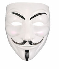 'V' FOR VENDETTA WHITE SCARY MASK HALLOWEEN FANCY DRESS ANONYMOUS GUY FILM FAWKE