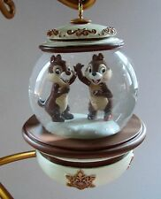 Disney Chip 'N Dale Snowglobe Ornament New No Packaging