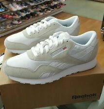 REEBOK CLASSIC NYLON 6390 WHITE/LIGHT GREY MEN US SZ 10