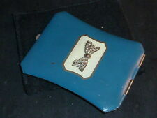 Stylish Vintage Art Deco Blue Enamelled Powder Compact.