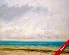 THE CALM SEA BY GUSTAVE COURBET FRENCH PAINTING ART REAL CANVAS GICLEE PRINT