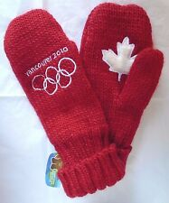 Vancouver Olympic 2010 Red Mittens Small Maple Leaf Hudson's Bay Adult S/M NWT