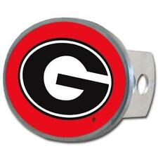 Georgia Bulldogs Trailer Hitch Receiver Cover Metal Oval Class II & III