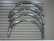 "1987-1996 Ford F150 F250 1"" Wide QMI Chrome Wheel Opening Moldings Fender Trim"