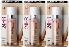 BULK 3 X MAYBELLINE SUPERSTAY 24HR FOUNDATION #NATURAL BEIGE - NEW!! -BEST VALUE