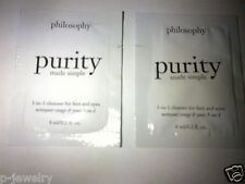 2 Philosophy Purity Made Simple 3-in-1 Cleanser for Face & Eyes 6 mL each