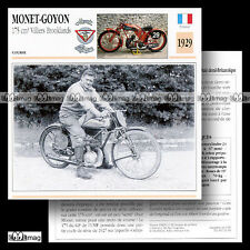 #032.04 MONET-GOYON 175 1929 VILLIERS BROOKLANDS Fiche Moto Motorcycle