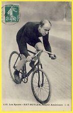 cpa SPORT CYCLISME Vélo Le STAYER Américain NAT BUTLER Américan Cyclist