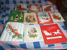 q. 10 Vintage Christmas Cards  Beautiful Fun Designs Styles