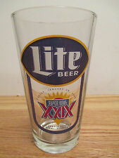 "SAN FRANCISCO 49ers Super Bowl XXIX Champions LITE BEER 6"" Glass STEVE YOUNG MVP"