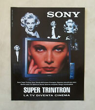 E691 - Advertising Pubblicità -1996- TV SONY SUPER TRINITRON