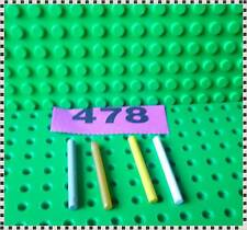 478 A Selection Of Lego Part 30374 Bar 4L (Lightsaber Blade / Wand) x 4 Parts