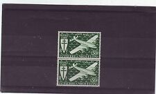 ST PIERRE ET MIQUELON - SG341 MNH 1942 AIR 50f GREEN - PAIR