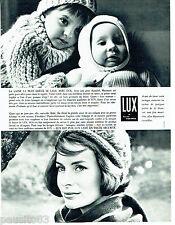 PUBLICITE ADVERTISING 1016  1963  la lessive Lux  pour laine layette bébé