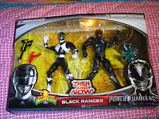 POWER RANGERS BLACK RANGER  THEN AND NOW - MIGHTY MORPHIN & SABAN'S RANGERS NEW