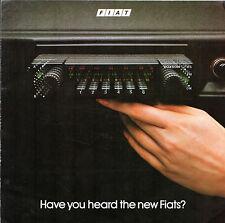 FIAT VOXSON RADIO c1980 UK MARKET FOLDOUT opuscolo Tanga KYALAMI mostro