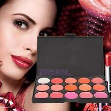 Professional 15 Colors Lipstick Palette Set Kit Cream Cosmetic Makeup Lip Gloss